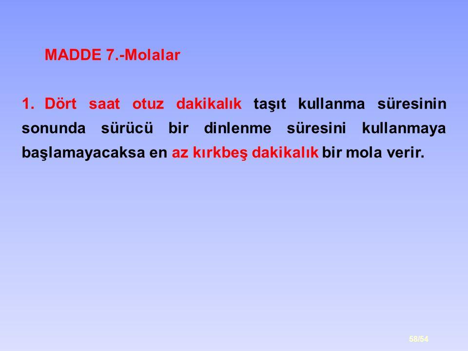 MADDE 7.-Molalar