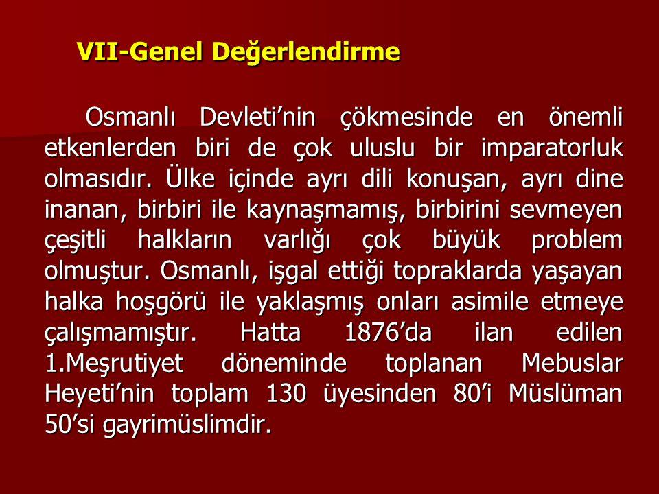 VII-Genel Değerlendirme