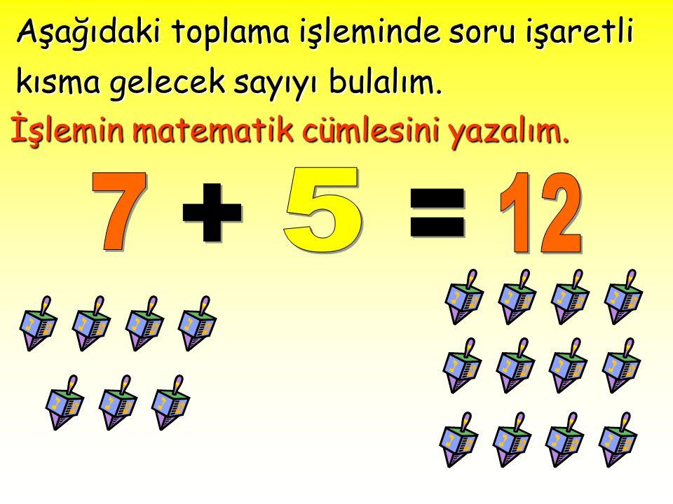 Aşağıdaki toplama işleminde soru işaretli kısma gelecek sayıyı bulalım.