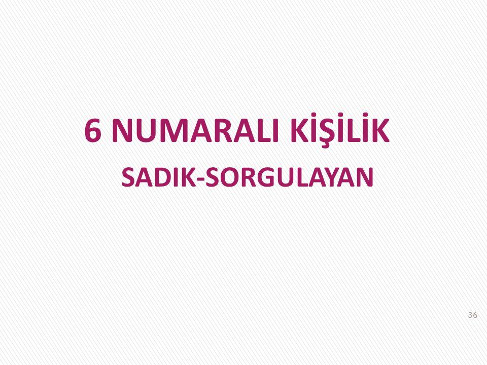 6 NUMARALI KİŞİLİK SADIK-SORGULAYAN