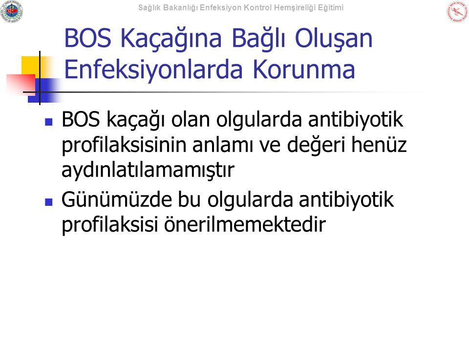BOS Kaçağına Bağlı Oluşan Enfeksiyonlarda Korunma