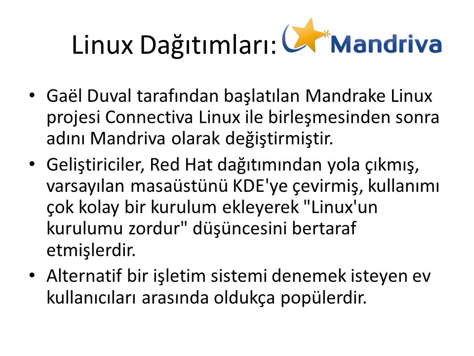Linux Dağıtımları: