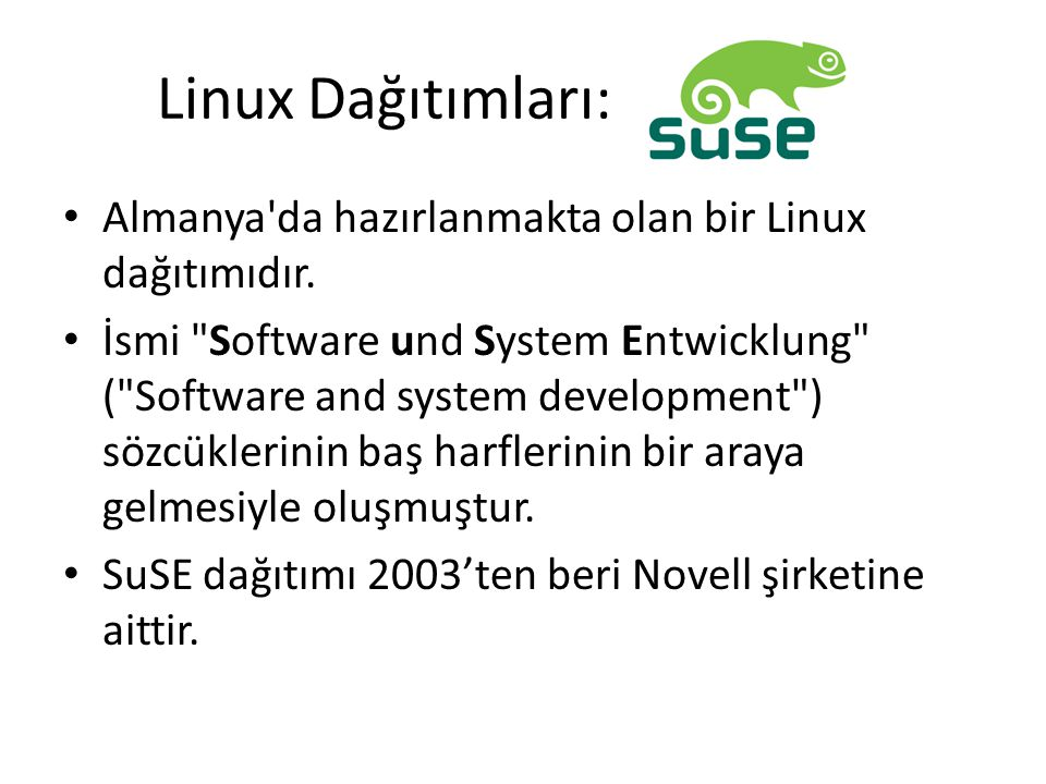 Linux Dağıtımları: Almanya da hazırlanmakta olan bir Linux dağıtımıdır.