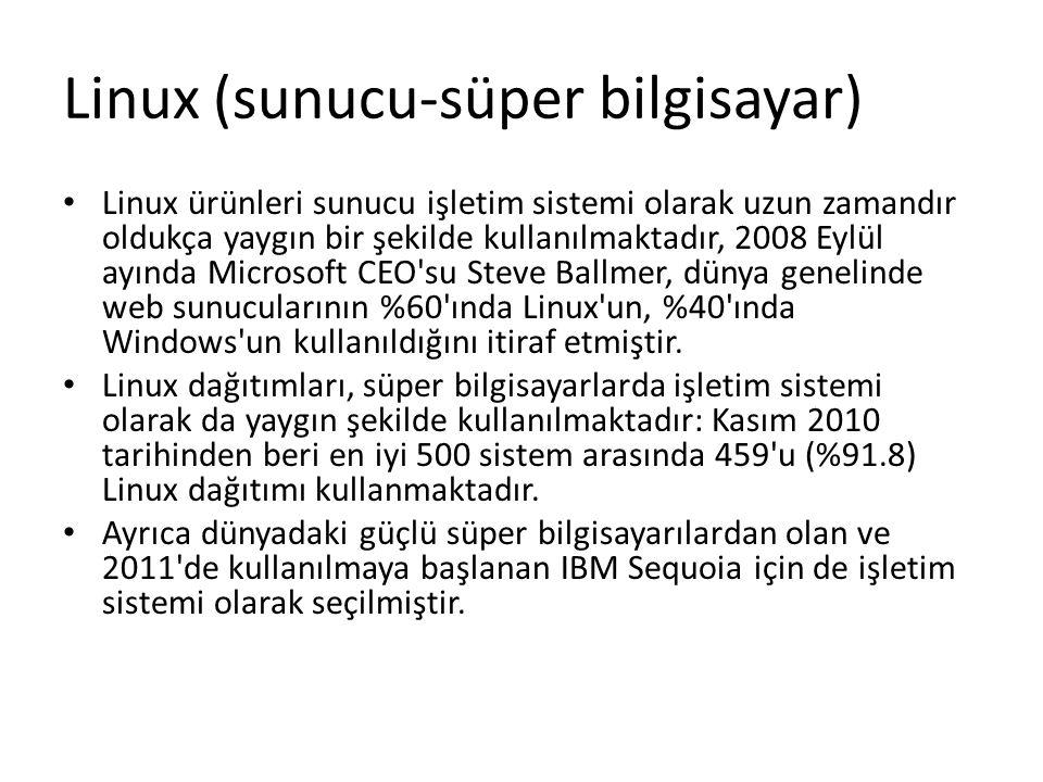 Linux (sunucu-süper bilgisayar)