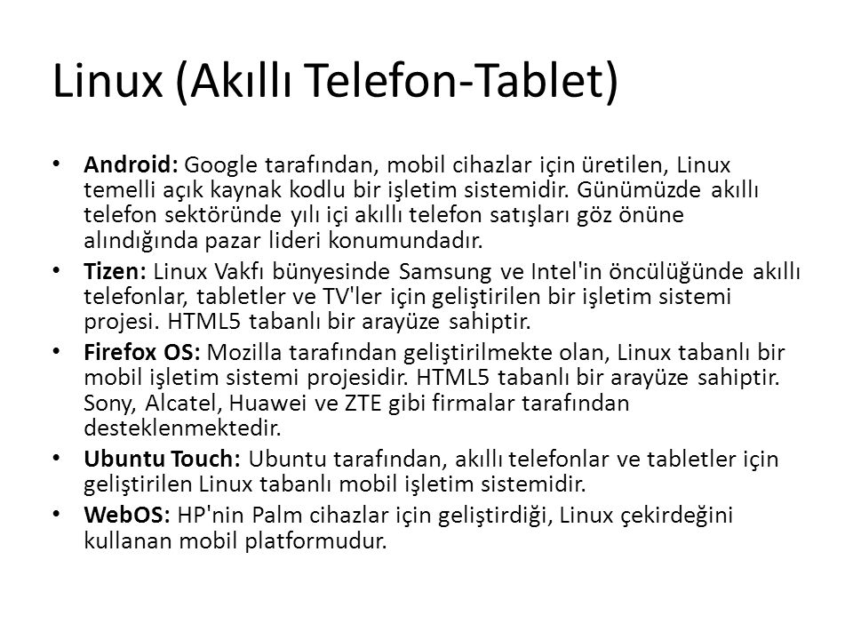 Linux (Akıllı Telefon-Tablet)