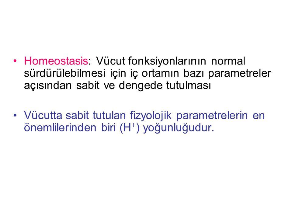 Homeostasis: Vücut fonksiyonlarının normal sürdürülebilmesi için iç ortamın bazı parametreler açısından sabit ve dengede tutulması