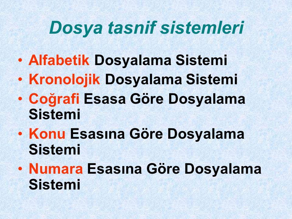 Dosya tasnif sistemleri
