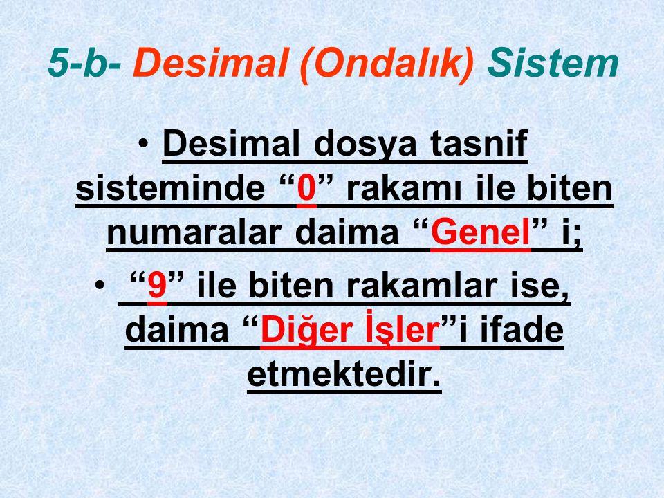5-b- Desimal (Ondalık) Sistem
