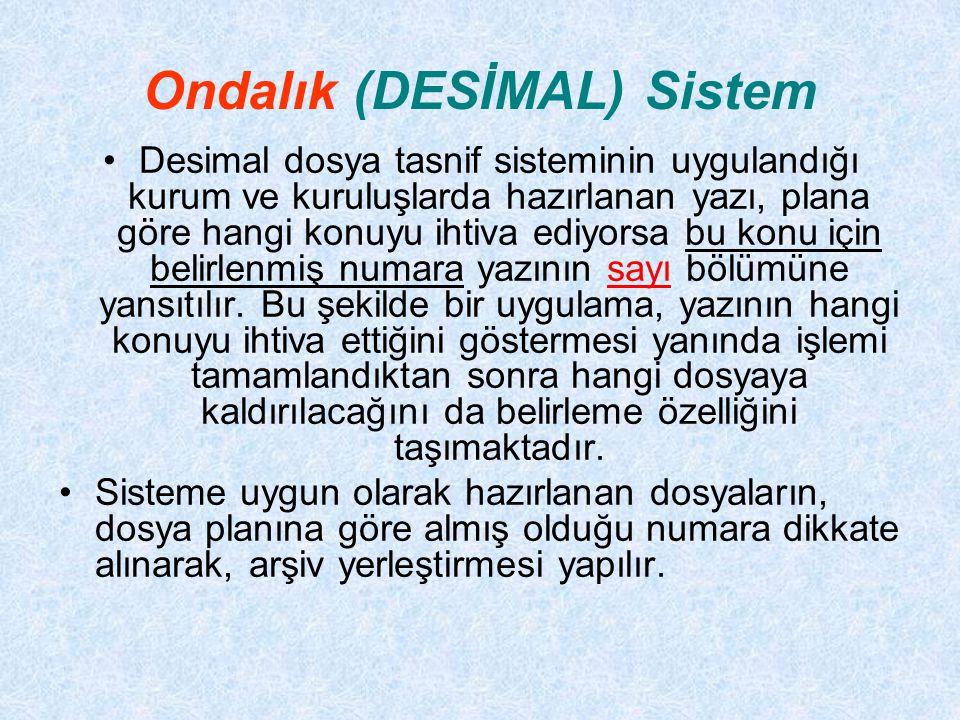 Ondalık (DESİMAL) Sistem