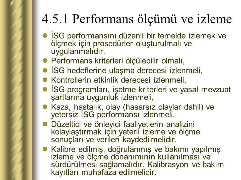 4.5.1 Performans ölçümü ve izleme