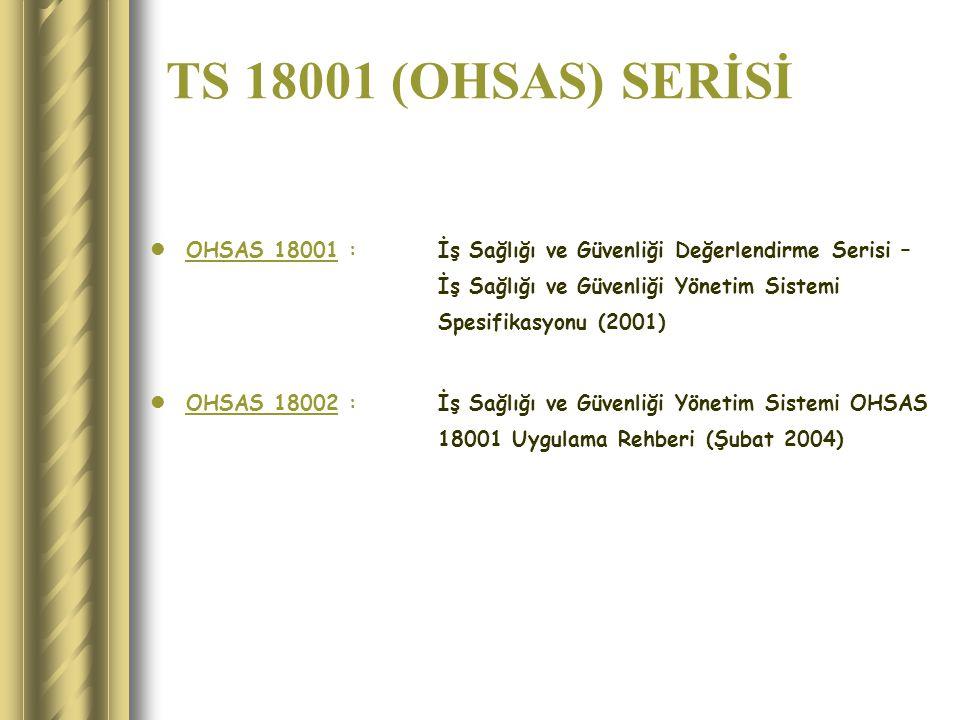 TS 18001 (OHSAS) SERİSİ