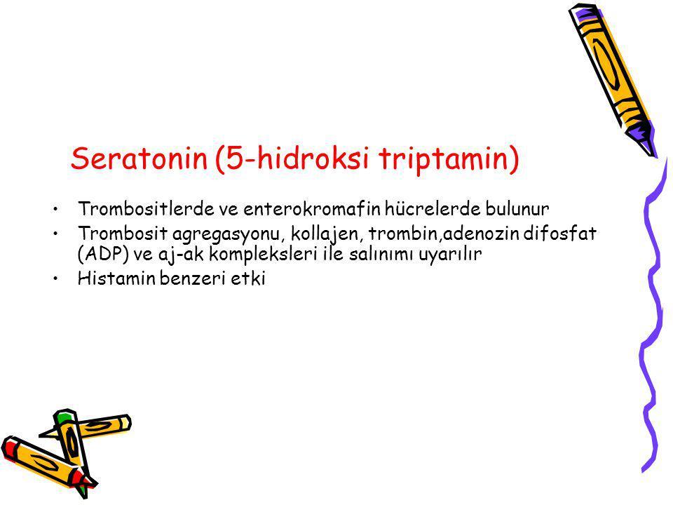 Seratonin (5-hidroksi triptamin)