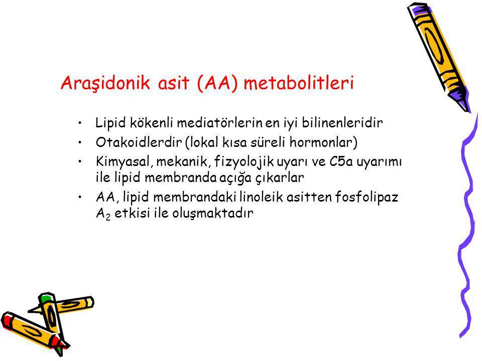 Araşidonik asit (AA) metabolitleri