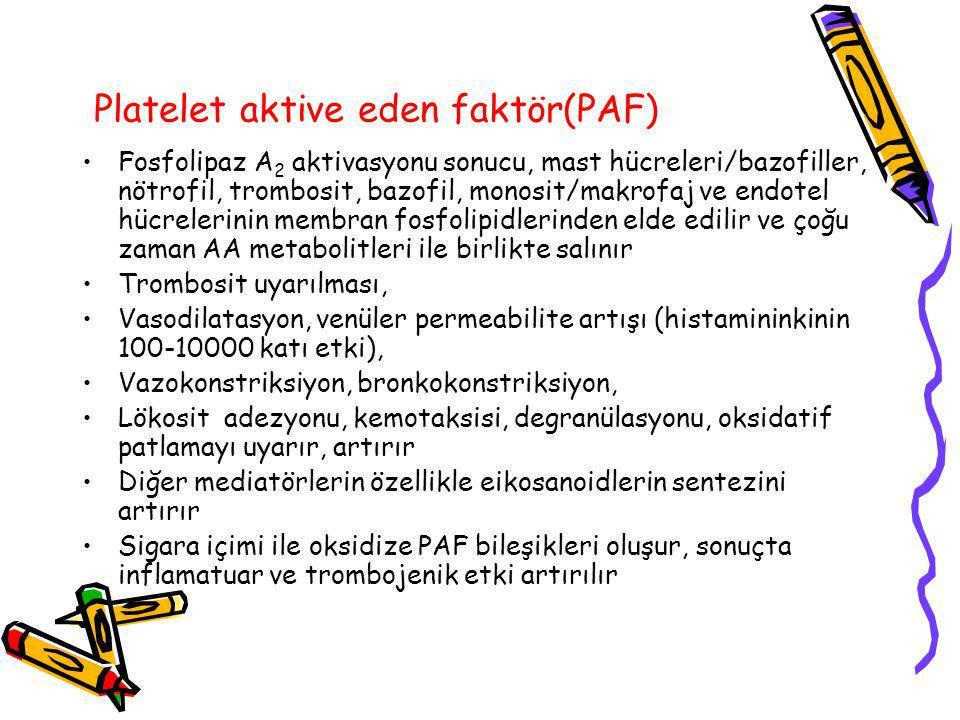 Platelet aktive eden faktör(PAF)