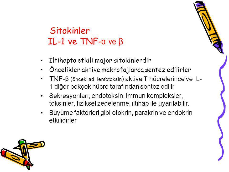 Sitokinler IL-1 ve TNF-α ve β