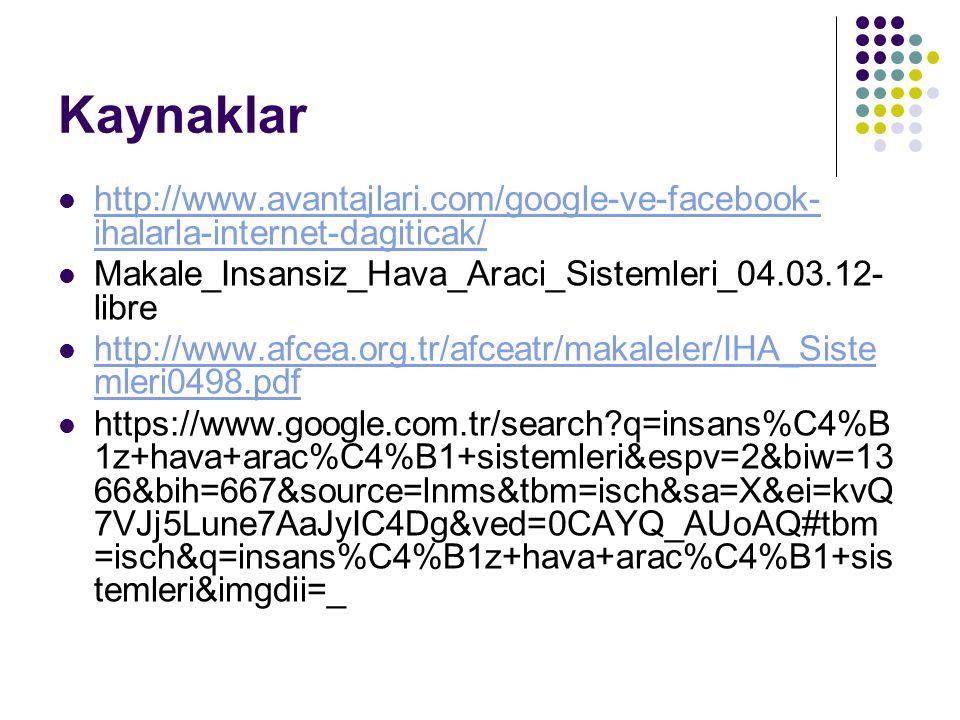 Kaynaklar http://www.avantajlari.com/google-ve-facebook-ihalarla-internet-dagiticak/ Makale_Insansiz_Hava_Araci_Sistemleri_04.03.12-libre.