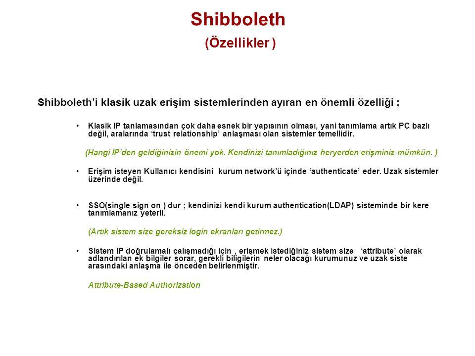 Shibboleth (Özellikler )