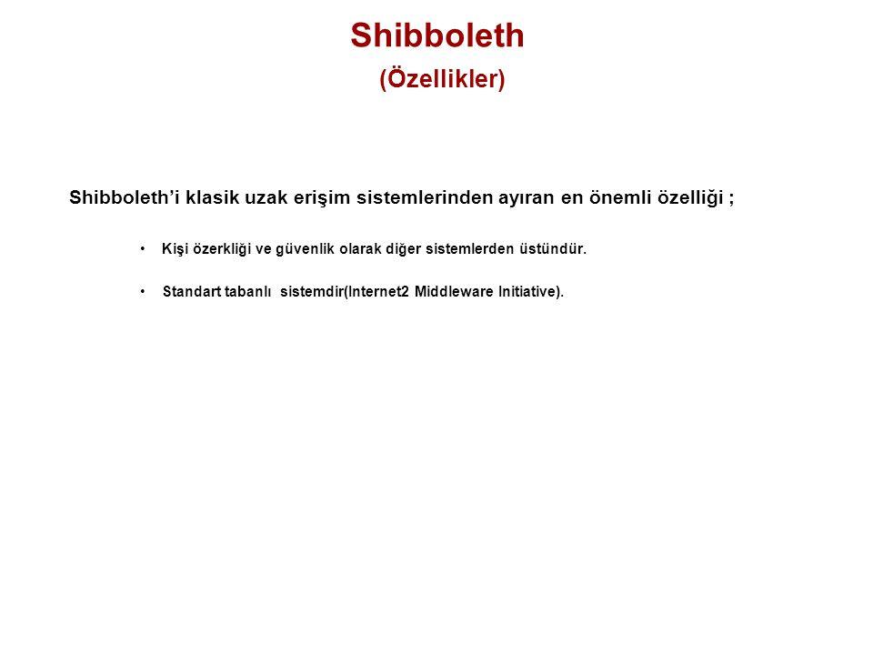 Shibboleth (Özellikler)