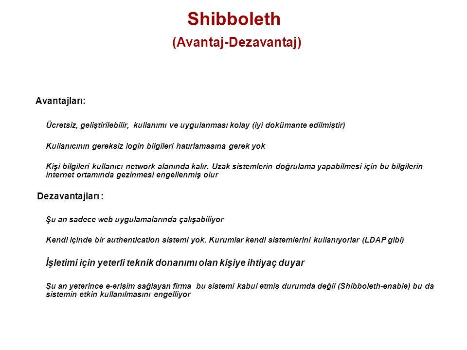 Shibboleth (Avantaj-Dezavantaj)