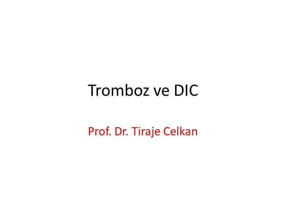Tromboz ve DIC Prof. Dr. Tiraje Celkan