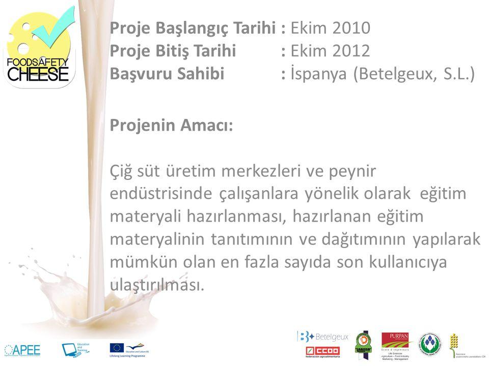 Proje Başlangıç Tarihi : Ekim 2010