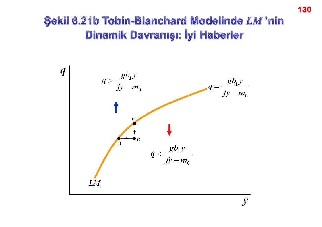 130 Şekil 6.21b Tobin-Blanchard Modelinde LM 'nin Dinamik Davranışı: İyi Haberler