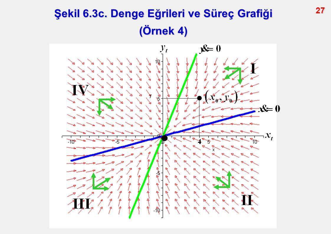 Şekil 6.3c. Denge Eğrileri ve Süreç Grafiği