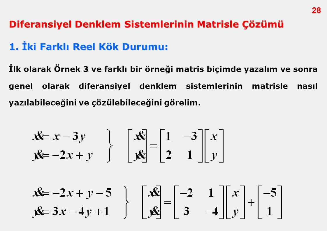 Diferansiyel Denklem Sistemlerinin Matrisle Çözümü