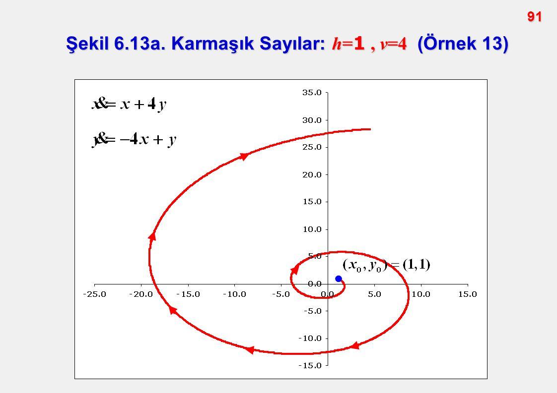 Şekil 6.13a. Karmaşık Sayılar: h=1 , v=4 (Örnek 13)