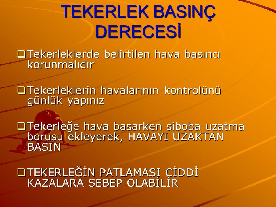 TEKERLEK BASINÇ DERECESİ