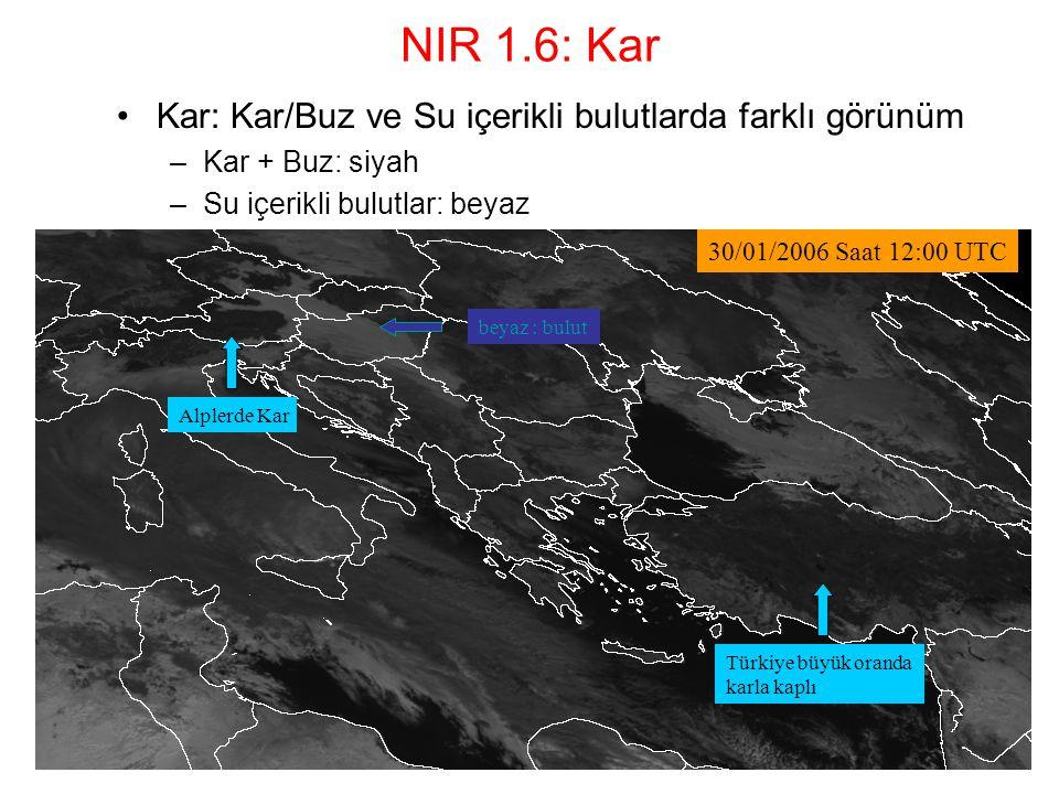 NIR 1.6: Kar Kar: Kar/Buz ve Su içerikli bulutlarda farklı görünüm