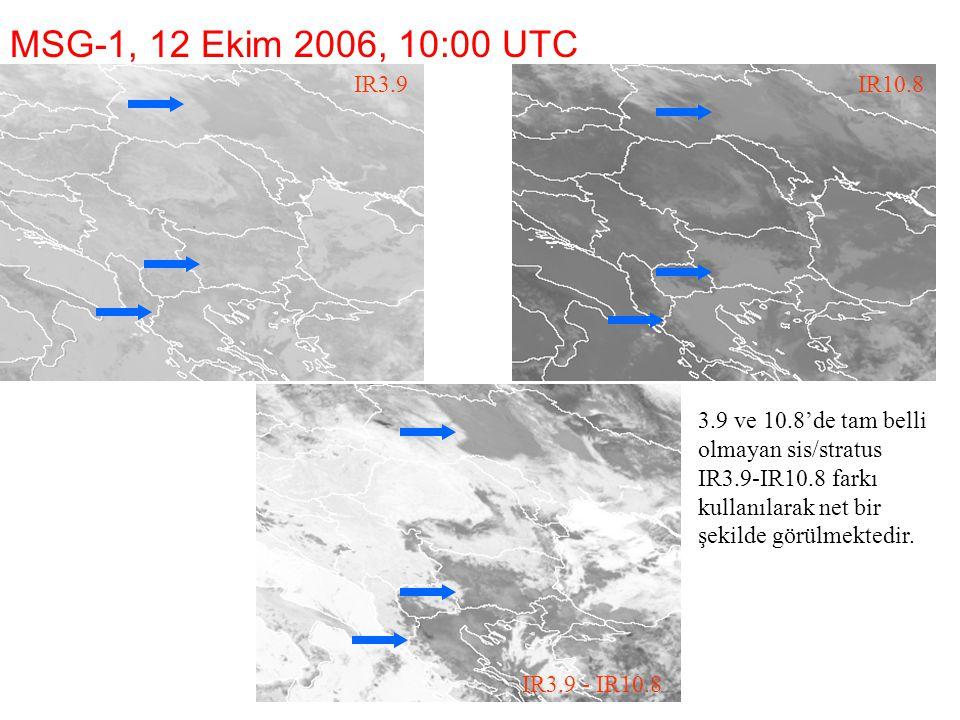 MSG-1, 12 Ekim 2006, 10:00 UTC IR3.9. IR10.8. 1.