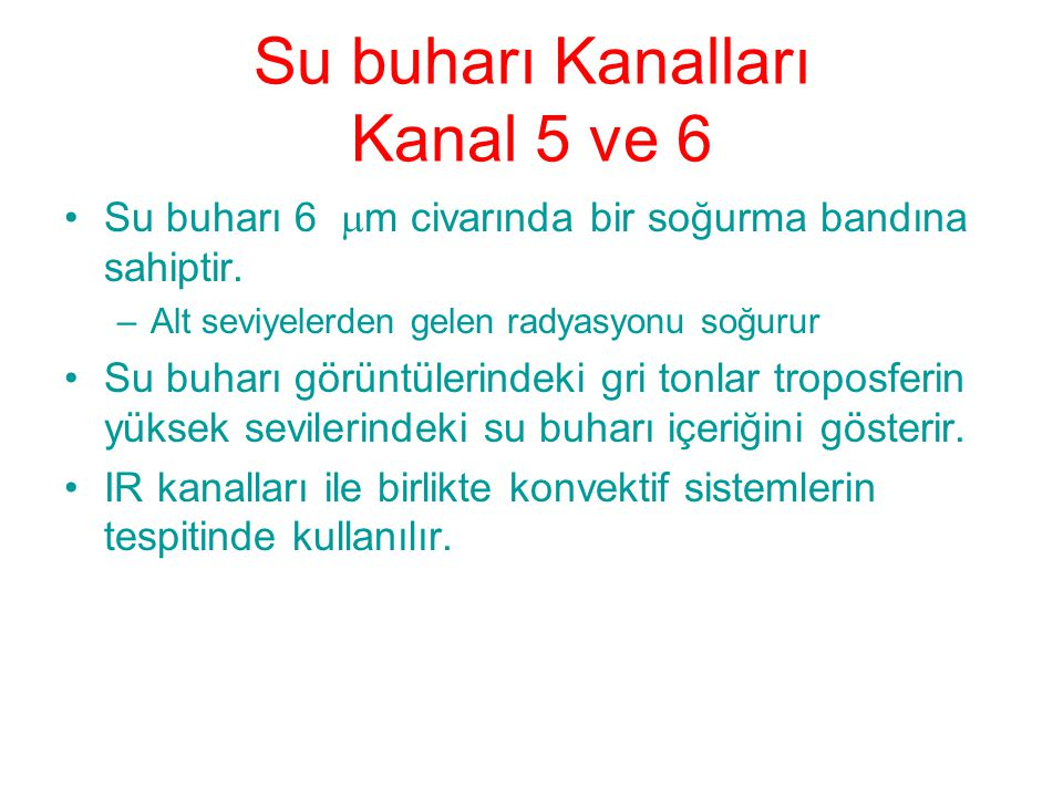 Su buharı Kanalları Kanal 5 ve 6
