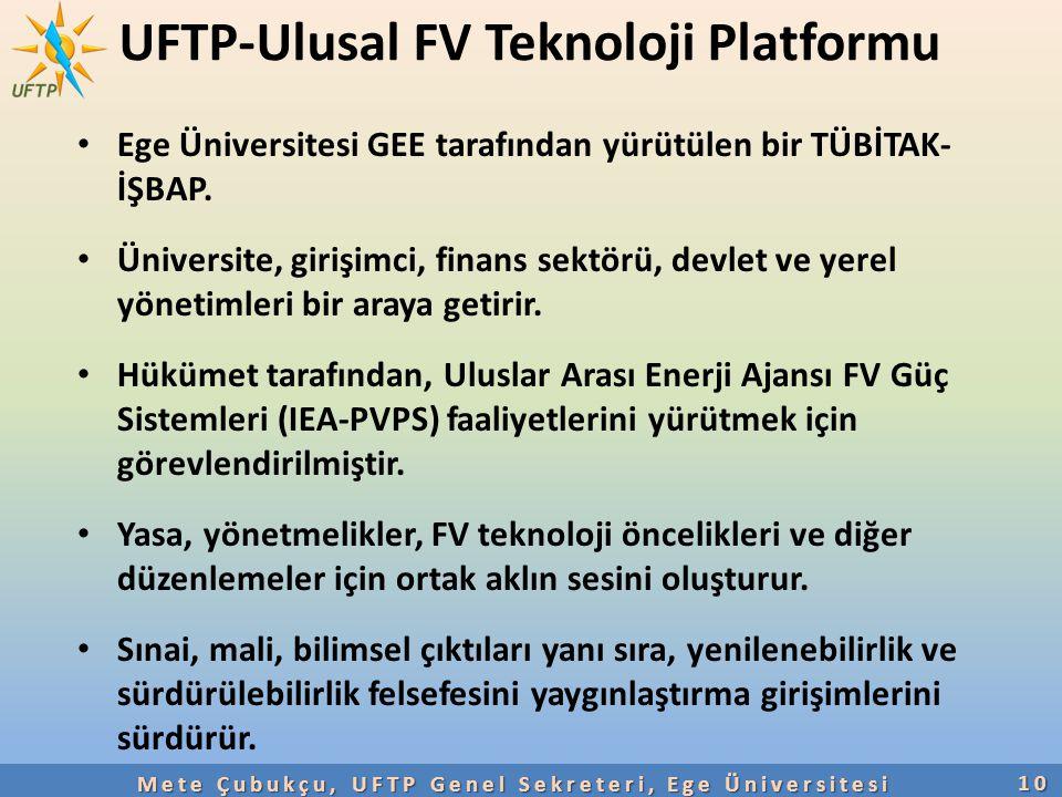 UFTP-Ulusal FV Teknoloji Platformu