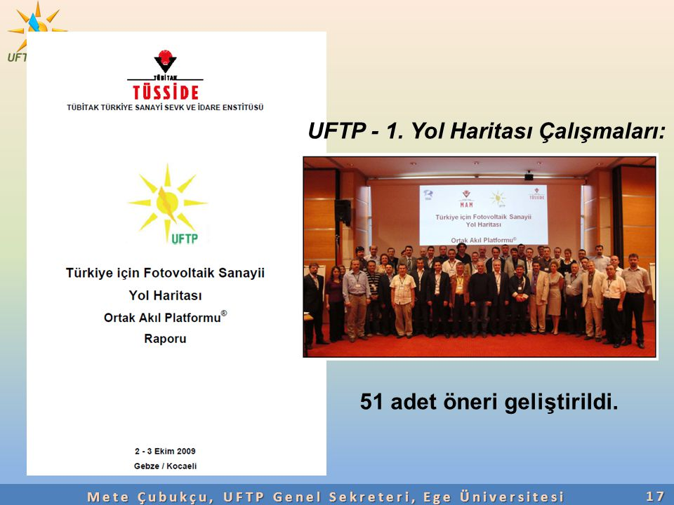 Mete Çubukçu, UFTP Genel Sekreteri, Ege Üniversitesi