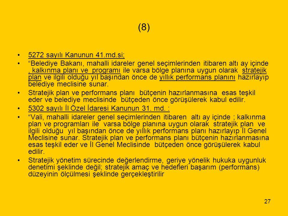 (8) 5272 sayılı Kanunun 41.md.si;
