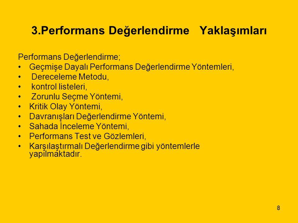 3.Performans Değerlendirme Yaklaşımları