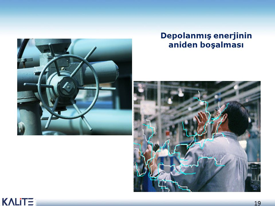 Depolanmış enerjinin aniden boşalması