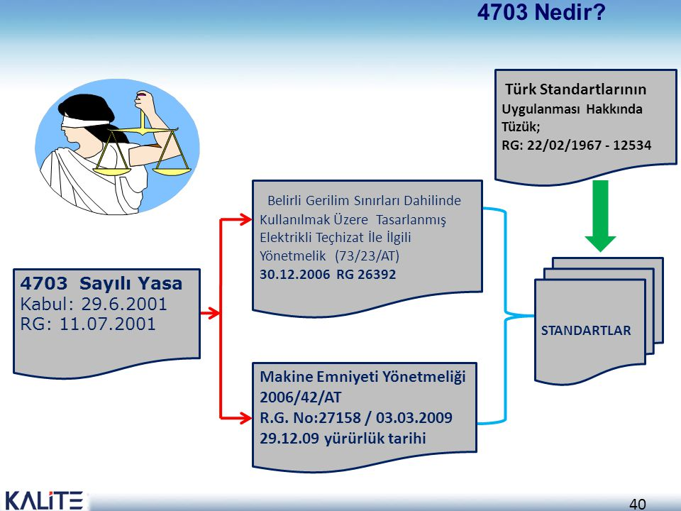4703 Nedir Türk Standartlarının Uygulanması Hakkında Tüzük;