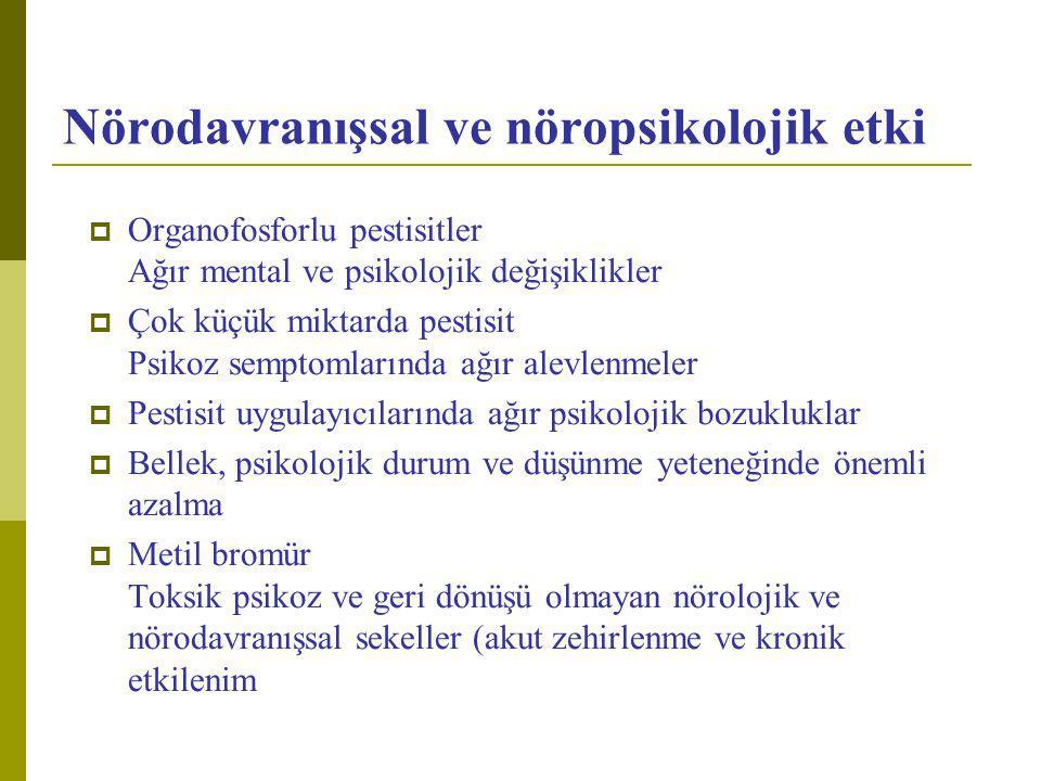 Nörodavranışsal ve nöropsikolojik etki