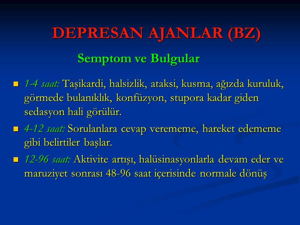 DEPRESAN AJANLAR (BZ) Semptom ve Bulgular