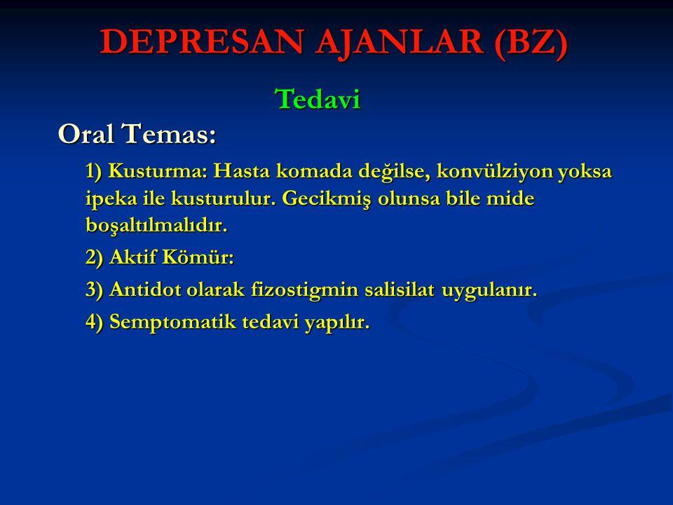DEPRESAN AJANLAR (BZ) Tedavi Oral Temas: