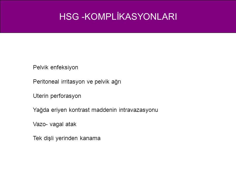 HSG -KOMPLİKASYONLARI