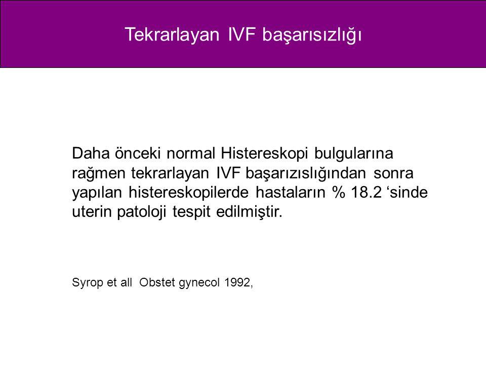 Tekrarlayan IVF başarısızlığı