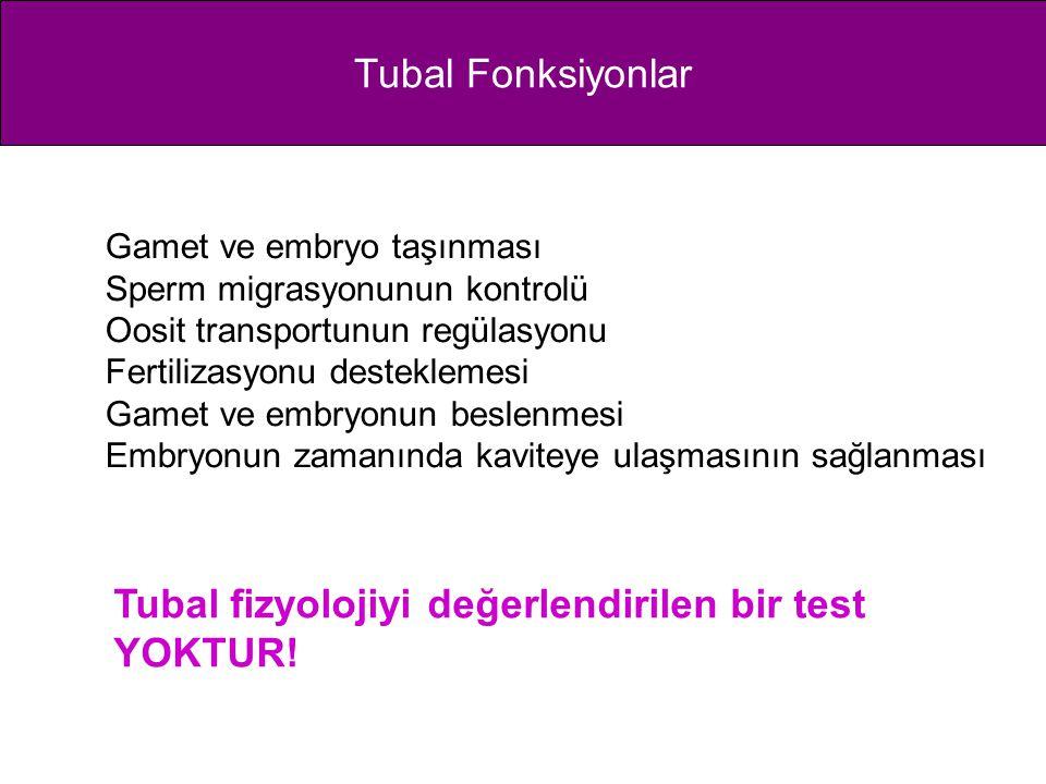 Tubal fizyolojiyi değerlendirilen bir test YOKTUR!