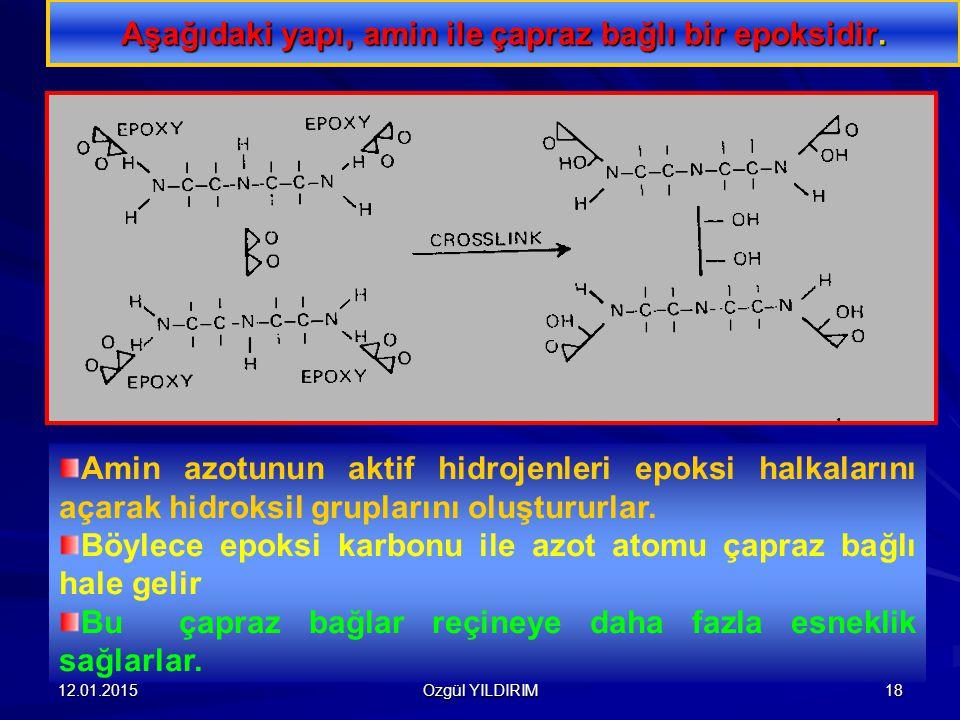 Aşağıdaki yapı, amin ile çapraz bağlı bir epoksidir.