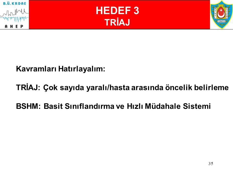 HEDEF 3 TRİAJ.