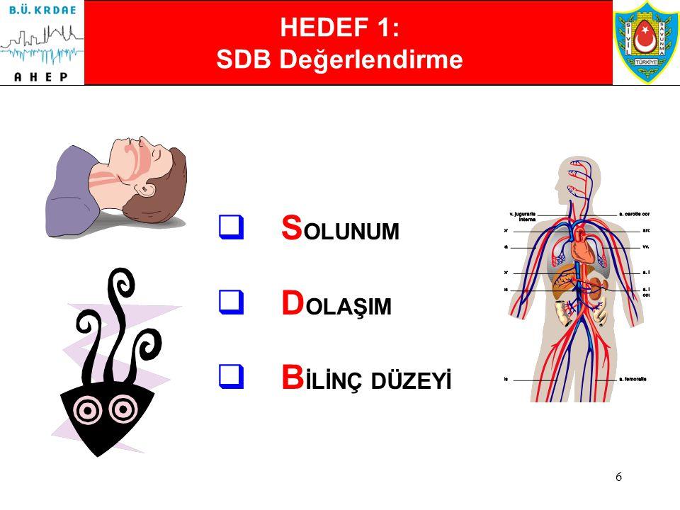 HEDEF 1: SDB Değerlendirme