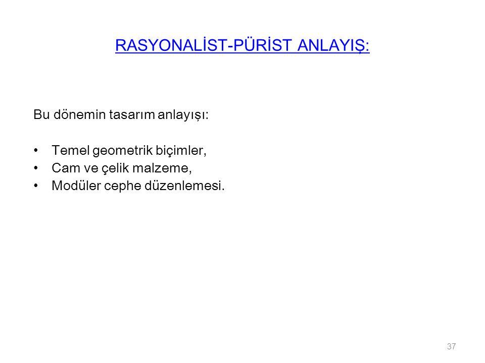 RASYONALİST-PÜRİST ANLAYIŞ: