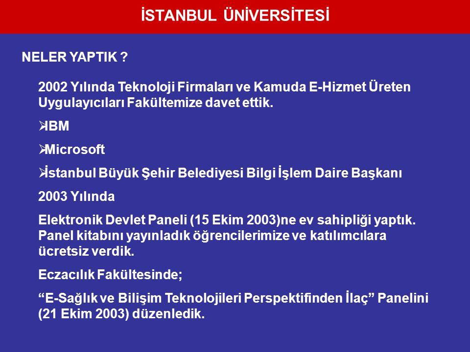 İSTANBUL ÜNİVERSİTESİ